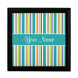 Funky Retro Stripes and Spots Gift Box