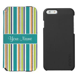 Funky Retro Stripes and Spots Incipio Watson™ iPhone 6 Wallet Case