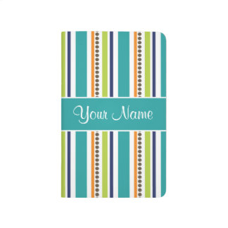 Funky Retro Stripes and Spots Journal
