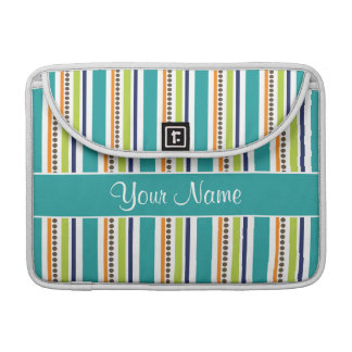 Funky Retro Stripes and Spots MacBook Pro Sleeves