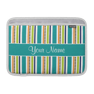 Funky Retro Stripes and Spots MacBook Sleeve