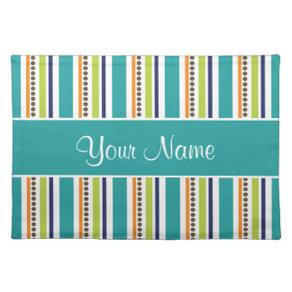 Funky Retro Stripes and Spots Placemat