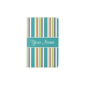 Funky Retro Stripes and Spots Pocket Moleskine Notebook