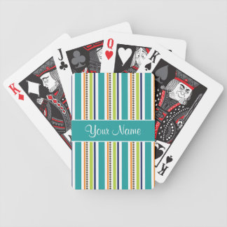 Funky Retro Stripes and Spots Poker Deck