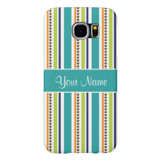 Funky Retro Stripes and Spots Samsung Galaxy S6 Case