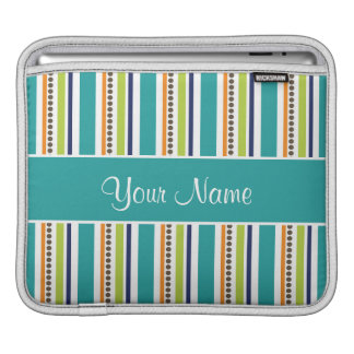 Funky Retro Stripes and Spots Sleeves For iPads