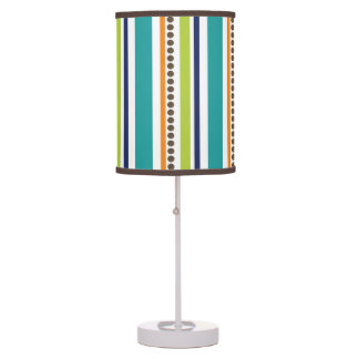 Funky Retro Stripes and Spots Table Lamp