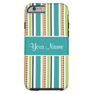 Funky Retro Stripes and Spots Tough iPhone 6 Case