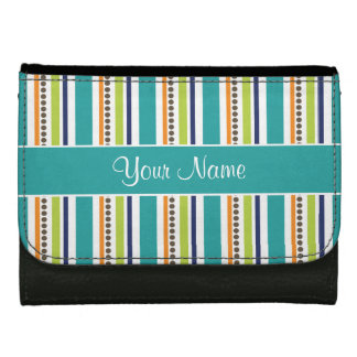 Funky Retro Stripes and Spots Wallet