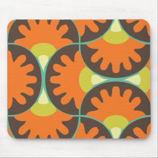 Funky Retro Swirl Mouse Pad