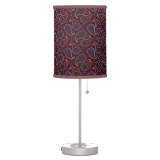 Funky Retro Vintage Paisley Desk Lamps