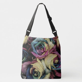 Funky Roses Cross Body Bag