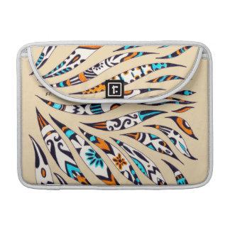 Funky Scribble Inky Beige Pattern Sleeve For MacBooks