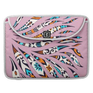 Funky Scribble Pattern Pink Sleeve For MacBook Pro