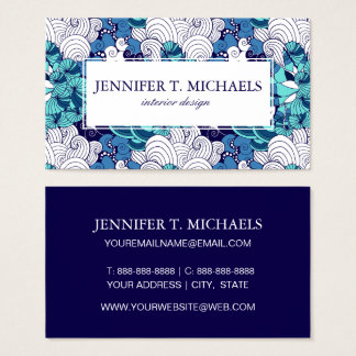 Funky Seashell Pattern Business Card