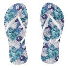 Funky Seashell Pattern Flip Flops