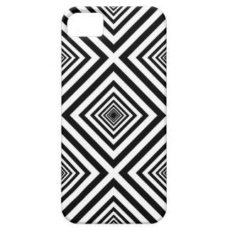 Funky Seventies Black White Squares Mosaic Pattern iPhone 5 Covers