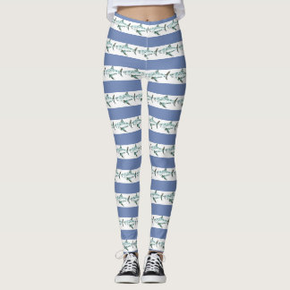 Funky Shark Stripes Leggings