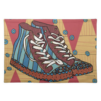 funky shoes placemat