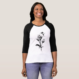 Funky Sketchy Roses T-Shirt