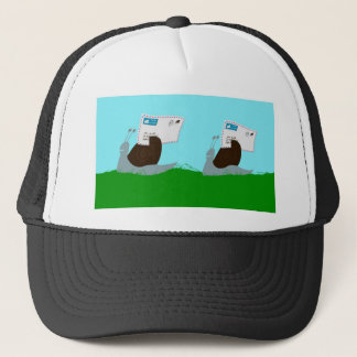 Funky snails deliver funky mail trucker hat