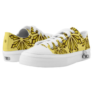 Funky sneakers yellow snowflakes