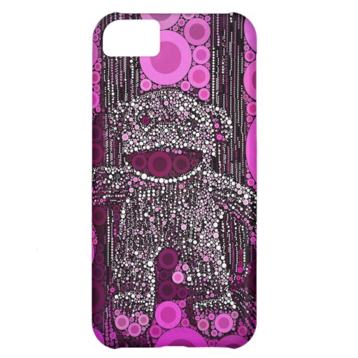 Funky Sock Monkey Circles Bubbles Pop Art Case For iPhone 5C