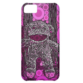 Funky Sock Monkey Circles Bubbles Pop Art Cover For iPhone 5C