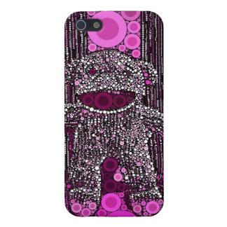 Funky Sock Monkey Circles Bubbles Pop Art iPhone 5 Covers