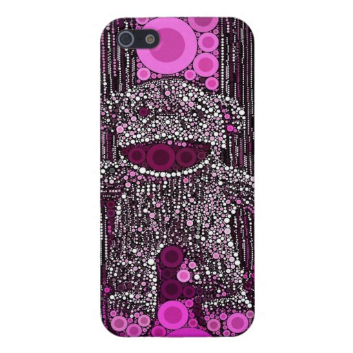 Funky Sock Monkey Circles Bubbles Pop Art iPhone 5 Covers
