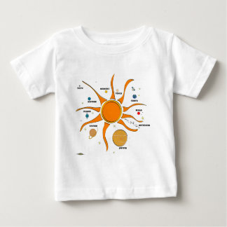 Funky Solar System Baby T-Shirt