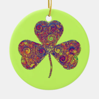 Funky Spirals Shamrock - Ornament