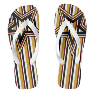 Funky Star and Stripes Flip Flops