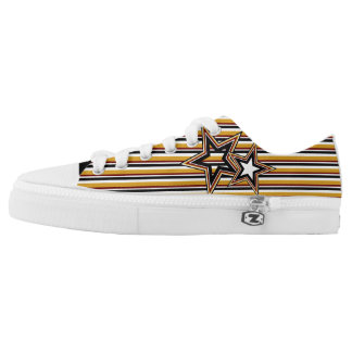 Funky Star and Stripes Low-Top Sneakers
