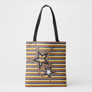 Funky Star and Stripes Tote Bag