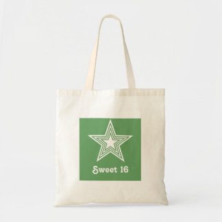 Funky Star Sweet 16 Swag Bag, Kelly Green