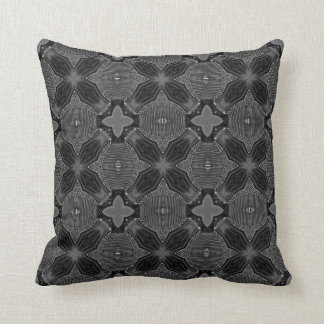 Funky Steampunk Metal Abstract Geometric Pattern Throw Pillow