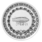 Funky Steampunk Vintage Airship Plate