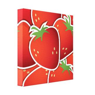 Funky strawberries canvas print