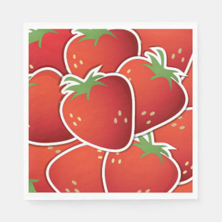 Funky strawberries disposable napkin