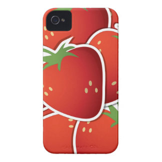 Funky strawberries iPhone 4 Case-Mate case