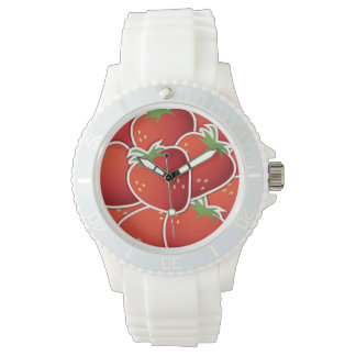 Funky strawberries wrist watches
