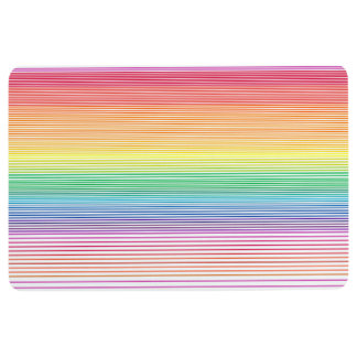 funky stripe multicolour doommat floor mat