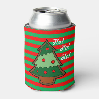 Funky Stripes and Christmas Tree Can Cooler