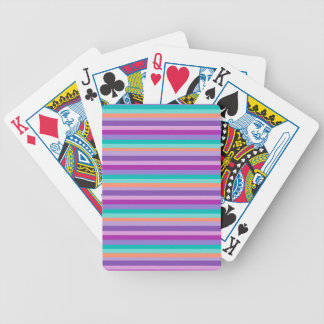 Funky stripes Bicycle® Poker Playing Cards