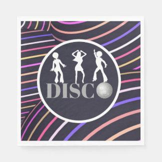 Funky Swirls Disco Theme 70's Party Disposable Napkin