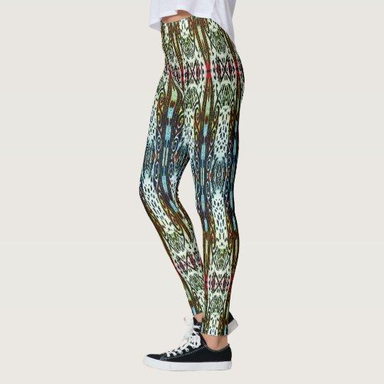 Funky Swirly Patterned Leggings