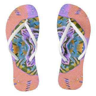 Funky Symmetrical Pattern Flip Flops
