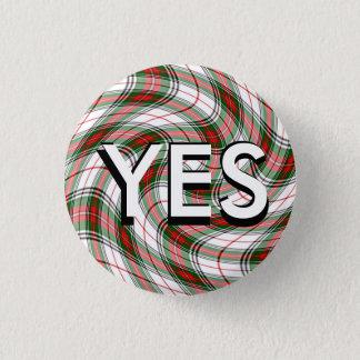 Funky Tartan Scottish Independence Pinback 1 Inch Round Button