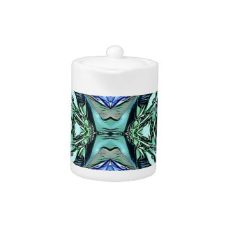 Funky Teal Lilac Artistic Pattern